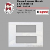 Plaque Mosaic 2x6 modules blanches