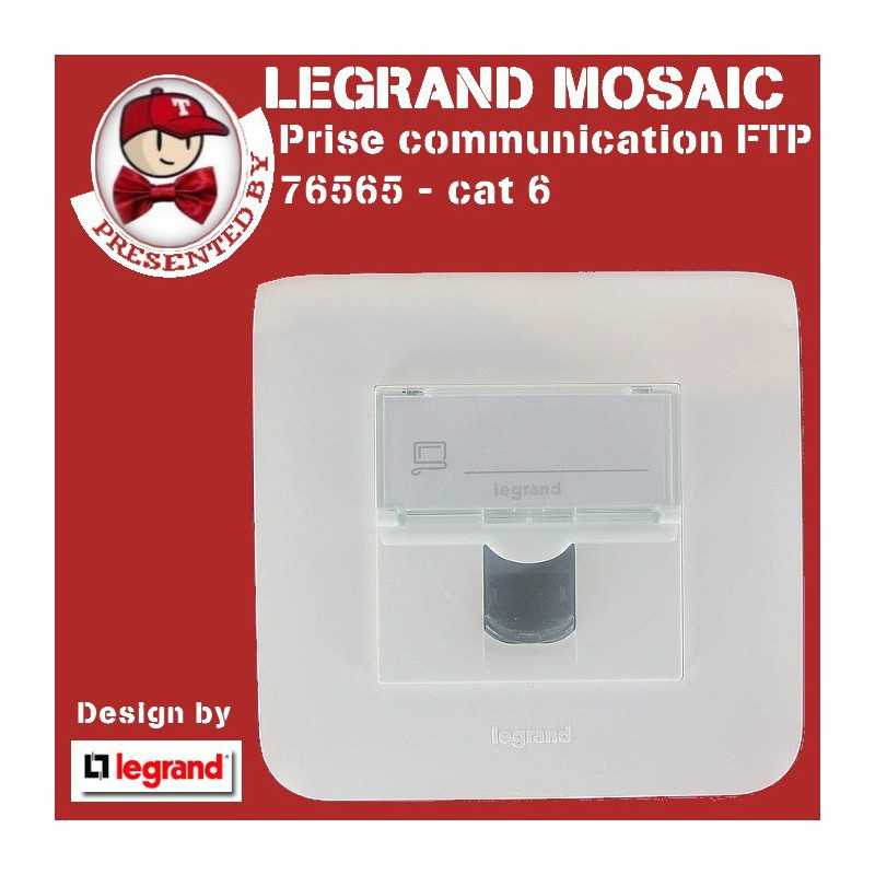 Prise RJ 45 cat 6 FTP multi-usages Mosaic complet