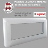 Plaque Mosaic 10 modules horizontale blanche