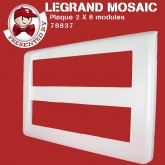 Plaque Mosaic 2x8 modules blanc