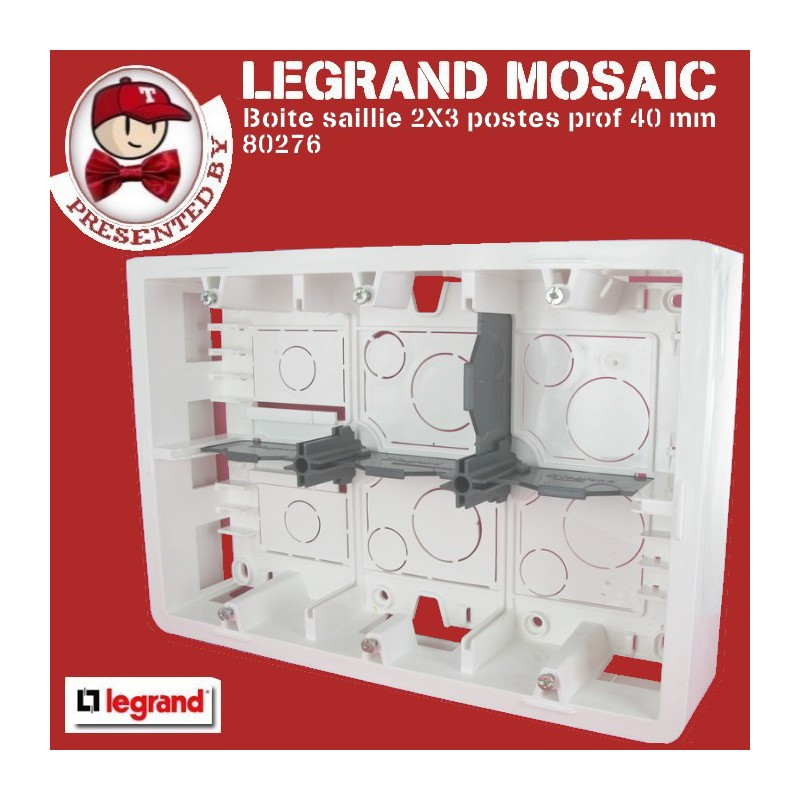 Cadre Mosaic pour support ref 80266 prof 46 mm 2X3 postes