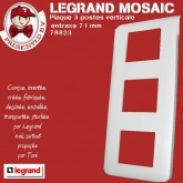 Plaque Mosaic 3X2 modules verticale blanc