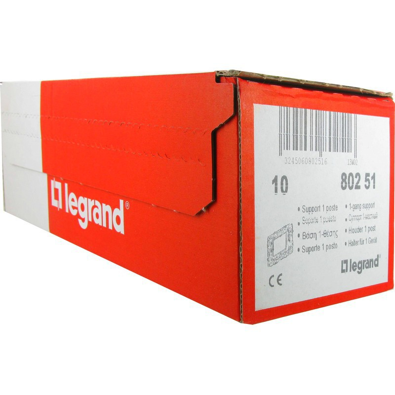 Lot de 10 Supports 1 poste batibox Legrand