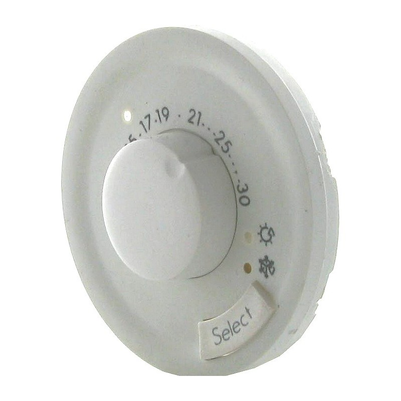 Enjoliveur thermostat fil pilote / CPL Blanc