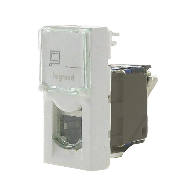 Prise communication RJ 45 multi-usages Mosaic largeur 1 module - cat 6 FTP