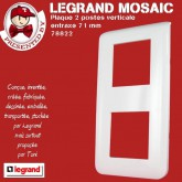 Plaque Mosaic 2X2 modules verticale blanche