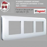 Plaque Mosaic 3X2 modules horizontale entraxe 57mm