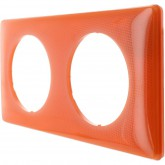 Plaque 2 postes Céliane 70's Orange