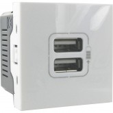 Prise chargeur double USB Mosaic 2400 mA