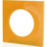 Plaque de finition déco Odace styl orange ambre