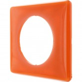 Plaque 1 poste Céliane 70's Orange
