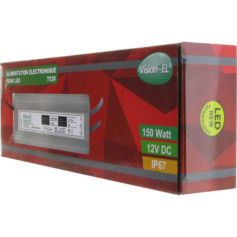 Driver courant continu 150 Watts IP67 pour leds 12V DC
