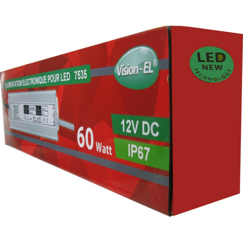 Alimentation pour leds 12 volts, 60 Watts courant continu
