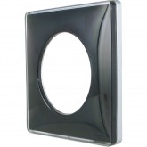 Plaque Odace you Alu Black 1 poste