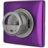 Enjoliveur avec chargeur USB version Dock violet irisé