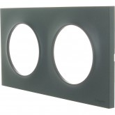 Plaque Odace styl 2 postes Anthracite