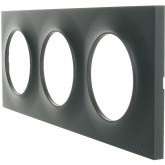 Plaque Odace styl 3 postes Anthracite