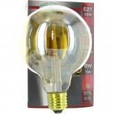 Ampoule led E27 8W filament globe doré blanc naturel