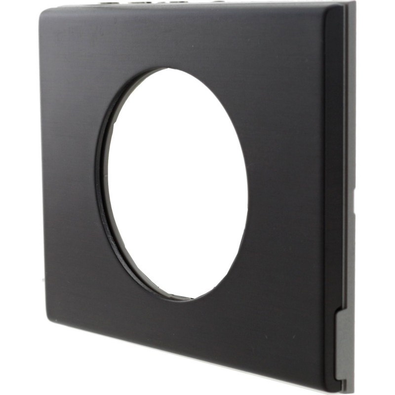 Plaque Céliane métal Black nickel 1 poste