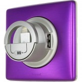 5V USB 2.0 dockable vers lightning pour phone fun en violet irisé