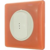 Bouton poussoir lumineux memories Orange