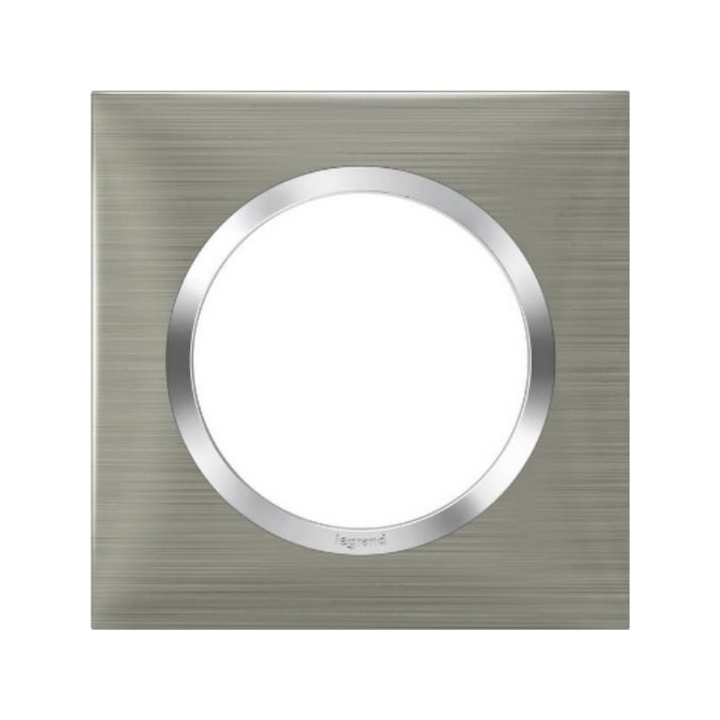 Plaque Dooxie carrée aspect Inox 1 poste
