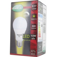 Ampoule led E27 10W filament dimmable opaque blanc chaud