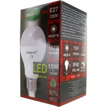 Ampoule led E27 15 W blanc naturel 4000°K