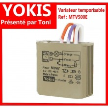 Variateur temporisable filaire 500 VA MTV500E Yokis Version 5 2019 - Nouveau