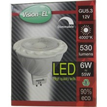 Ampoule leds GU5.3 12V 6W blanc naturel 4000° dimmable